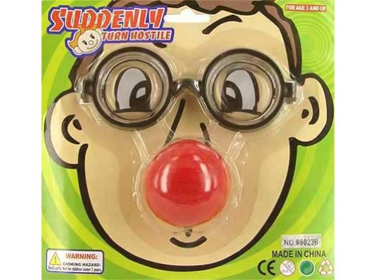 Очки умника с клоунским носом купить в интернет магазине подарков ПраздникШоп