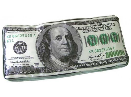 """Подушка """"Миллион долларов"""" купить в интернет магазине подарков ПраздникШоп"""