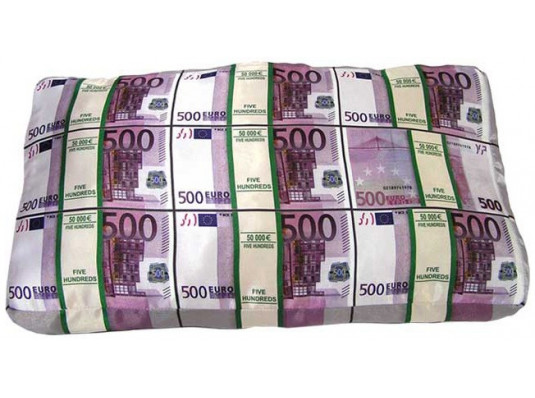 """Подушка """"Пачки денег"""" купить в интернет магазине подарков ПраздникШоп"""