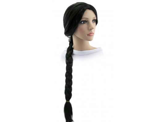 """Парик """"Одна коса"""" 90 см (черный) купить в интернет магазине подарков ПраздникШоп"""