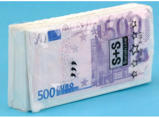 """Платочки """"Пачка евро"""" купить в интернет магазине подарков ПраздникШоп"""