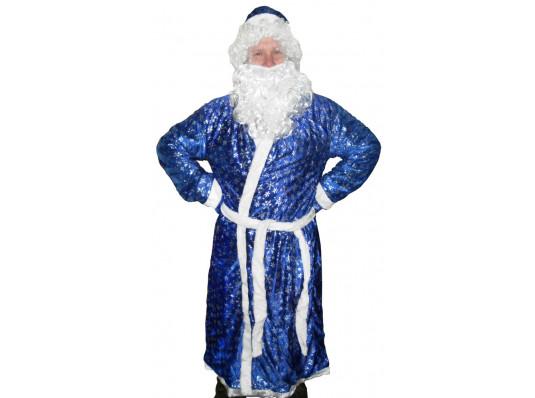 """Костюм """"Деда мороза синий с рисунком"""" купить в интернет магазине подарков ПраздникШоп"""