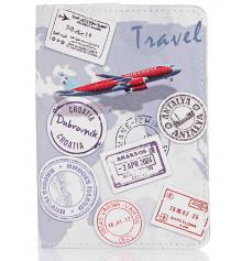 Кожаная обложка на паспорт Travel купить в интернет магазине подарков ПраздникШоп