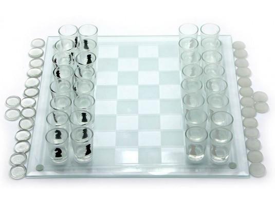 Набор игровой (шахматы с рюмками, шашки, карты) купить в интернет магазине подарков ПраздникШоп
