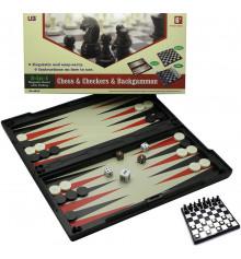 Магнитный игровой набор 3 в 1 ( шахматы,шашки,нарды ) купить в интернет магазине подарков ПраздникШоп
