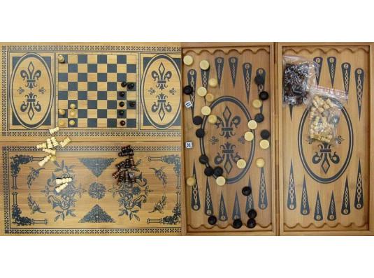 Нарды + шахматы из бамбука купить в интернет магазине подарков ПраздникШоп