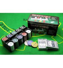 Покерный набор ( 2 колоды карт + 200 фишек ) купить в интернет магазине подарков ПраздникШоп