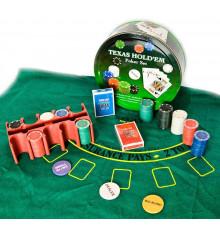 Покерный набор ( 2 колоды карт,200 фишек,сукно ) купить в интернет магазине подарков ПраздникШоп
