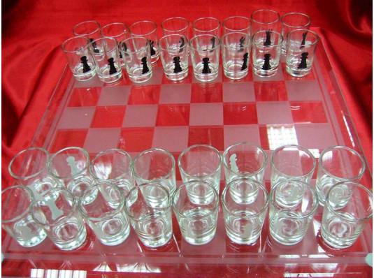 """Шахматы с рюмками """"большие"""" купить в интернет магазине подарков ПраздникШоп"""