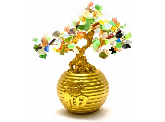 Дерево в золотой кадке купить в интернет магазине подарков ПраздникШоп