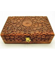 Шкатулка дерево резная №3 купить в интернет магазине подарков ПраздникШоп