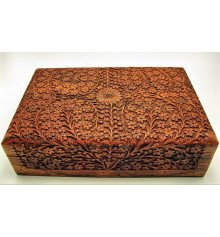 Шкатулка дерево резная №4 купить в интернет магазине подарков ПраздникШоп