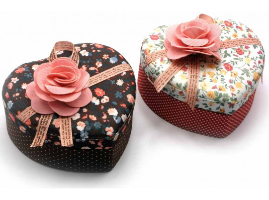 """Шкатулка ткань """"Сердце"""" №1 купить в интернет магазине подарков ПраздникШоп"""