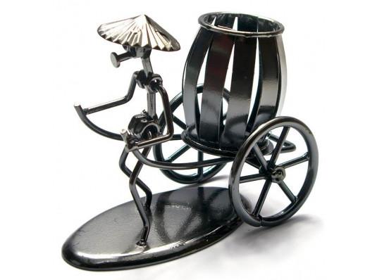 """Техно-арт статуэтка """"Рикша"""" купить в интернет магазине подарков ПраздникШоп"""