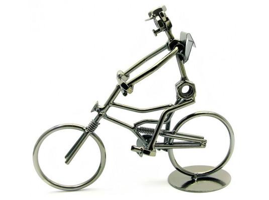"""Техно-арт статуэтка """"Велосипедист"""" купить в интернет магазине подарков ПраздникШоп"""
