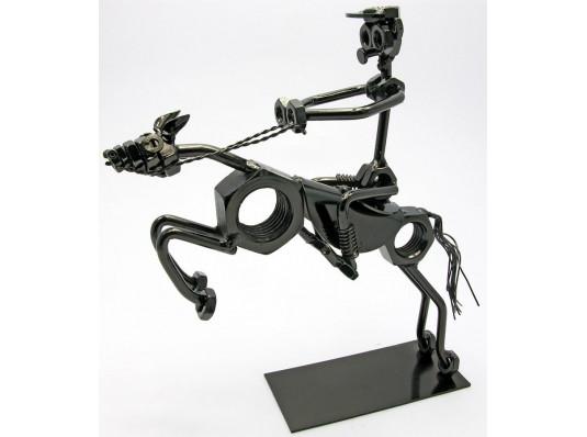 """Техно-арт статуэтка """"Всадник"""" №2 купить в интернет магазине подарков ПраздникШоп"""