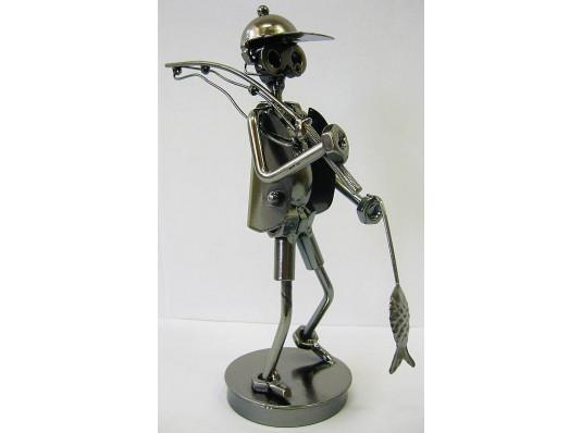 """Техно-арт статуэтка """"Рыбак с рыбой"""" купить в интернет магазине подарков ПраздникШоп"""
