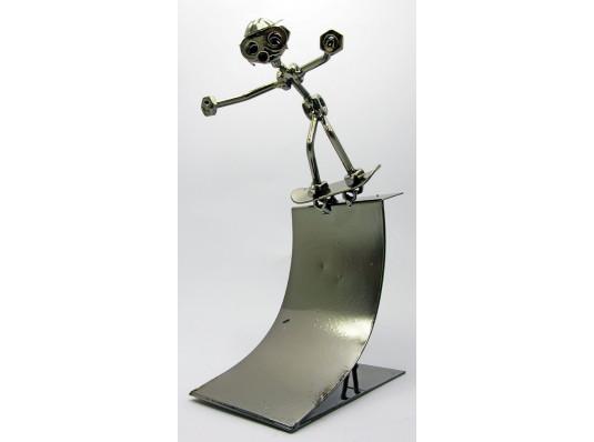 """Техно-арт статуэтка """"Скейтбордист"""" купить в интернет магазине подарков ПраздникШоп"""