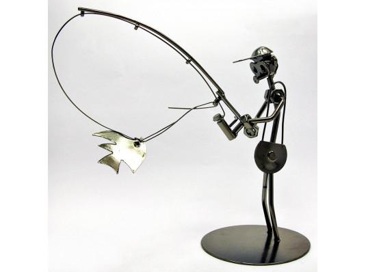 """Техно-арт статуэтка """"Спиннингист"""" купить в интернет магазине подарков ПраздникШоп"""