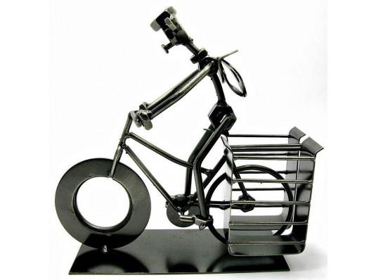 """Техно-арт подставка под ручки """"Велосипедист"""" купить в интернет магазине подарков ПраздникШоп"""