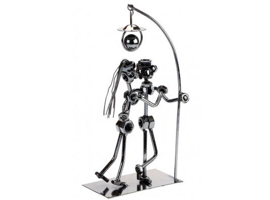 """Техно-арт статуэтка """"Пара под фонарем"""" купить в интернет магазине подарков ПраздникШоп"""