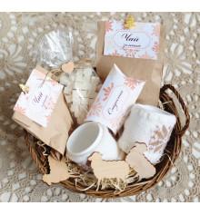 """Подарочный набор """"Чайная корзинка"""" купить в интернет магазине подарков ПраздникШоп"""
