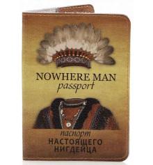Кожаная обложка на паспорт Настоящего Нигдейца купить в интернет магазине подарков ПраздникШоп