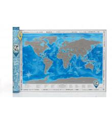Скретч-карта мира Discovery Map World на украинском языке купить в интернет магазине подарков ПраздникШоп