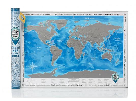 Скретч-карта мира Discovery Map World на английском языке купить в интернет магазине подарков ПраздникШоп