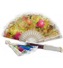 Веер с кружевом белый купить в интернет магазине подарков ПраздникШоп