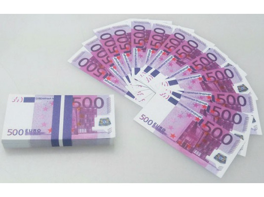 """Пачка 500 евро мини """"Конфетти"""" купить в интернет магазине подарков ПраздникШоп"""