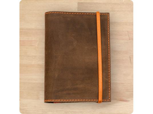 Обложка для паспорта 2.0 Орех-апельсин купить в интернет магазине подарков ПраздникШоп
