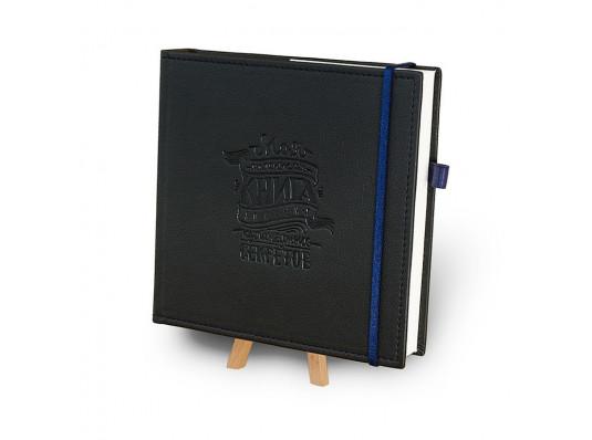 """Кук-бук для записи рецептов в обложке """"Черный с кобальтом"""" купить в интернет магазине подарков ПраздникШоп"""