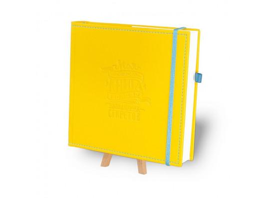 """Кук-бук для записи рецептов в обложке """"Желтый с голубым"""" купить в интернет магазине подарков ПраздникШоп"""