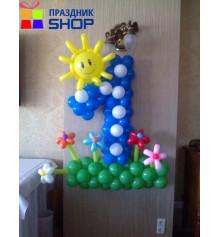 Плетеная цифра 1 купить в интернет магазине подарков ПраздникШоп
