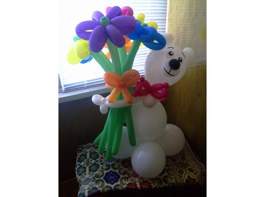 """Фигура из шаров """"Медведь"""" купить в интернет магазине подарков ПраздникШоп"""