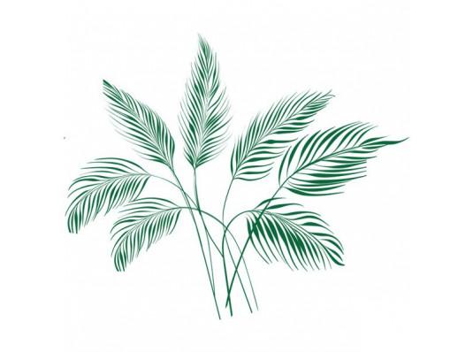 Виниловая наклейка Leaves купить в интернет магазине подарков ПраздникШоп