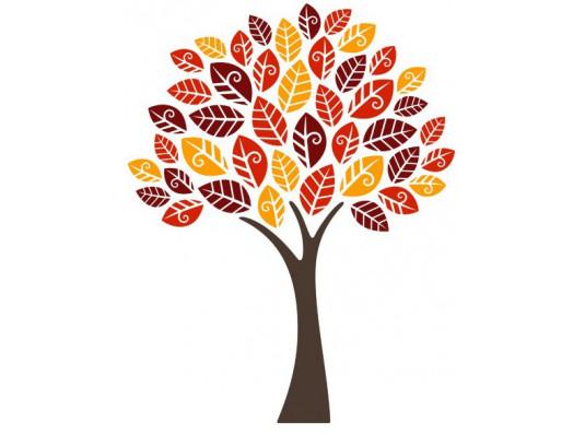 Виниловая наклейка Autumn Tree купить в интернет магазине подарков ПраздникШоп