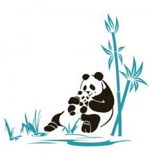 Виниловая наклейка Panda купить в интернет магазине подарков ПраздникШоп