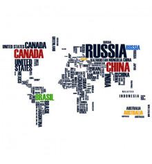 Виниловая наклейка World Map купить в интернет магазине подарков ПраздникШоп