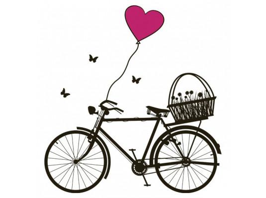 Виниловая наклейка Bicycle купить в интернет магазине подарков ПраздникШоп