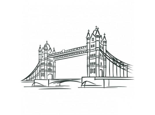 Виниловая наклейка London Bridge купить в интернет магазине подарков ПраздникШоп