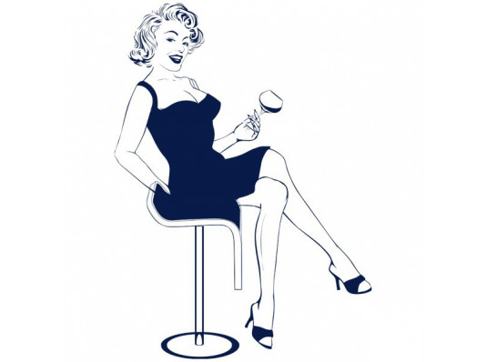 Виниловая наклейка Marilyn купить в интернет магазине подарков ПраздникШоп