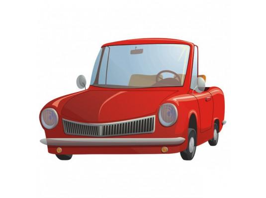 Наклейка детская Cute Car купить в интернет магазине подарков ПраздникШоп