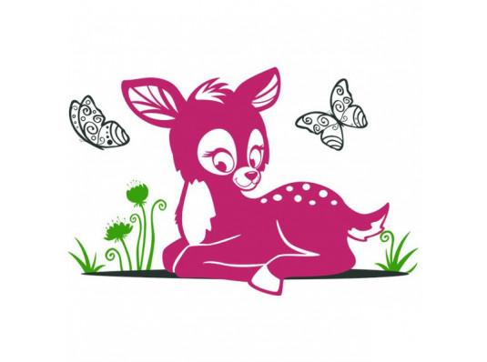 Виниловая наклейка детская Fawn купить в интернет магазине подарков ПраздникШоп
