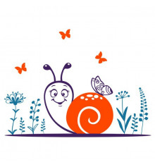 Виниловая наклейка детская Snail купить в интернет магазине подарков ПраздникШоп