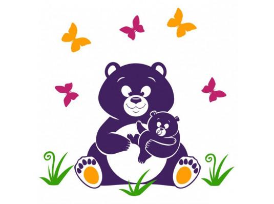 Виниловая наклейка детская Bear купить в интернет магазине подарков ПраздникШоп