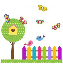 Виниловая наклейка детская Garden купить в интернет магазине подарков ПраздникШоп