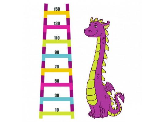 Виниловая наклейка ростомер Dinosaur купить в интернет магазине подарков ПраздникШоп
