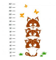 Виниловая наклейка ростомер Funny Kittens купить в интернет магазине подарков ПраздникШоп